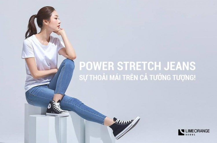 POWER STRETCH JEANS  - SIÊU CO DÃN - image 1